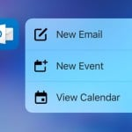 Outlook iOS prend en charge le 3D Touch des iPhone 6S