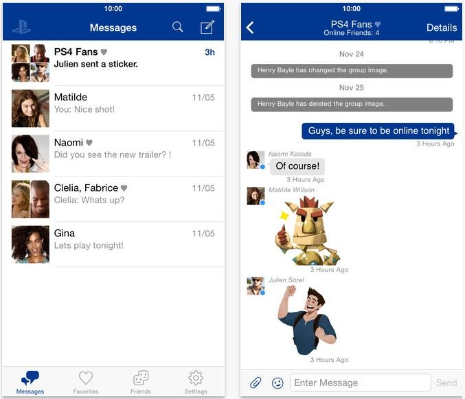 Sony : PlayStation Messages disponible sur iPhone & iPad