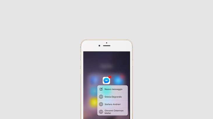 Facebook Messenger supporte enfin le 3D Touch des iPhone 6S