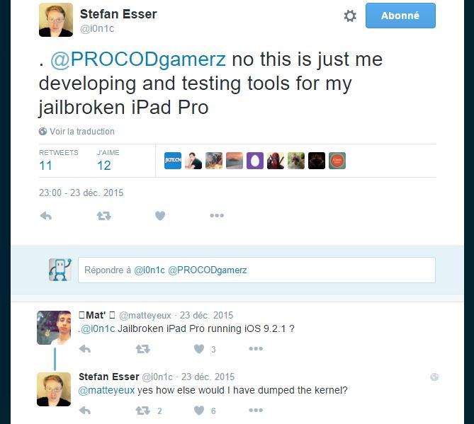 Jailbreak iPad Pro sous iOS 9.2.1 : réussi par i0n1c ?