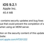 iOS 9.2.1 disponible sur iPhone, iPad & iPod Touch