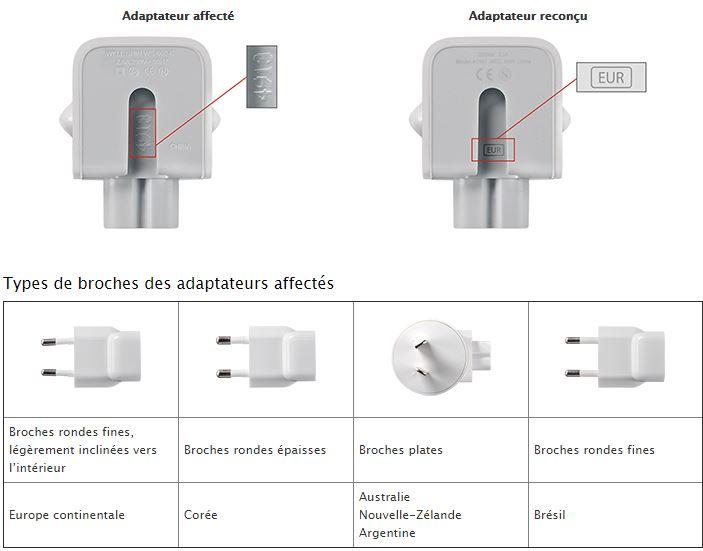 Apple-programme-echange-adaptateur-secteur