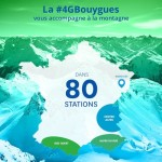 Infographie : la 4G Bouygues Telecom disponible dans 80 stations de ski
