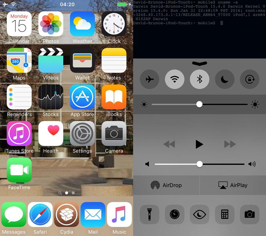Jailbreak iOS 9.3 - Jailbreak iOS 9.3 : réussi par @enMTW sur iPod Touch 6G ?