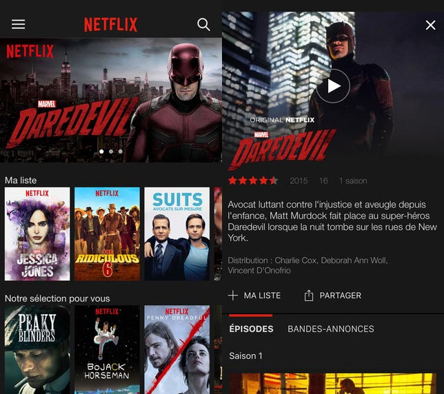 Netflix supporte désormais l'iPad Pro et le 3D Touch (iPhone 6S)