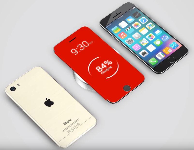 iPhone induction concept - iPhone 7S de 2017 : Apple aurait engagé des experts en recharge sans fil