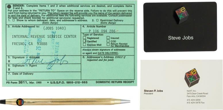 objets ayant appartenus a steve jobs - Apple : de vieux objets de Steve Jobs vendus aux enchères