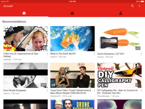 youtube ipad - YouTube supporte enfin l'écran de l'iPad Pro