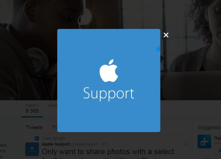 Apple lance un compte de SAV sur Twitter