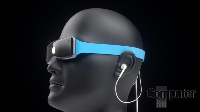 Concept Casque realite virtuelle apple bleu - Concept : un casque de réalité virtuelle Apple