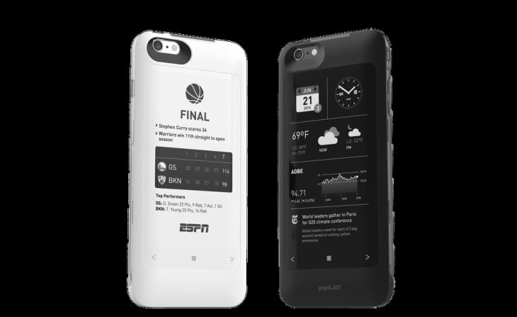 popSLATE 2 : une coque iPhone 6S avec écran e-ink à l'arrière