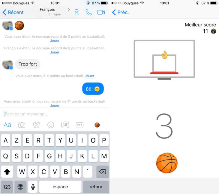 Facebook Messenger : un jeu de basket caché sur iPhone !