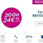 B&You : un forfait 4G 20 Go à seulement 24,99€/mois