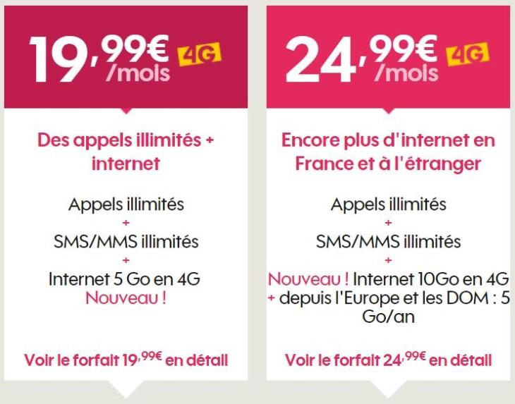 Sosh : les nouveaux forfaits 4G avec 5 & 10Go d'Internet disponibles