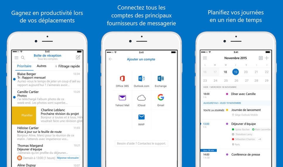 Microsoft Outlook iPhone - Microsoft Outlook : support du Touch ID sur iPhone & iPad