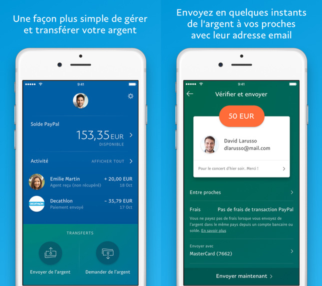 Paypal : refonte de l'app iPhone et nouvel écran d'accueil