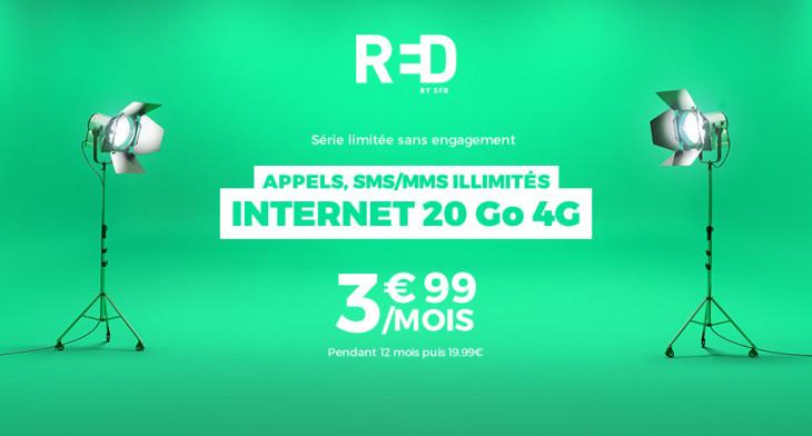 Showroomprive : forfait RED by SFR avec 20Go d'Internet 4G à 3,99€/mois !