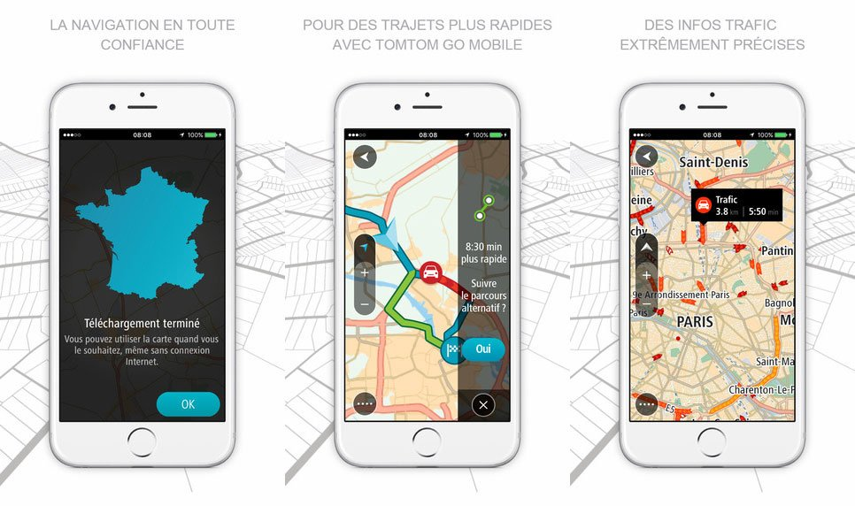 Tomtom go mobile iphone gratuit - Le GPS TomTom GO Mobile disponible sur iPhone