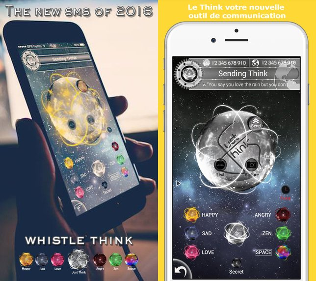 Whistle Think - Whistle Think & Thinks Messenger : deux apps qui réinventent le SMS