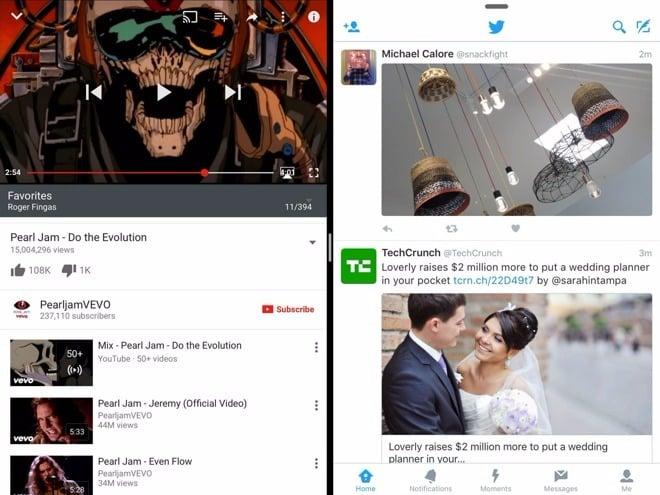 YouTube compatible avec Split View & Slide Over sur iPad
