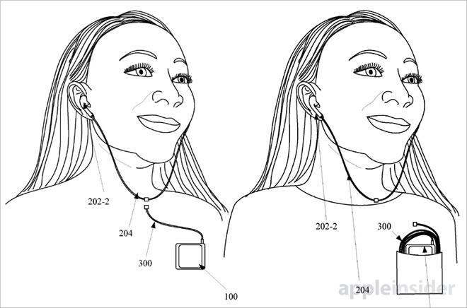 apple brevet casque magnetique hybride 001 - iPhone 7 : un brevet Apple d'écouteurs magnétiques détachables