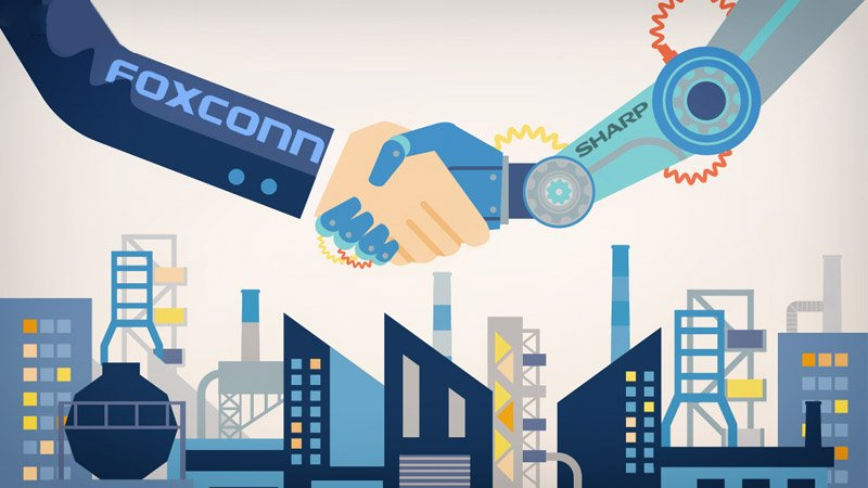 foxconn sharpjpg - Foxconn rachète Sharp pour 3 milliards d'euros (officiel)