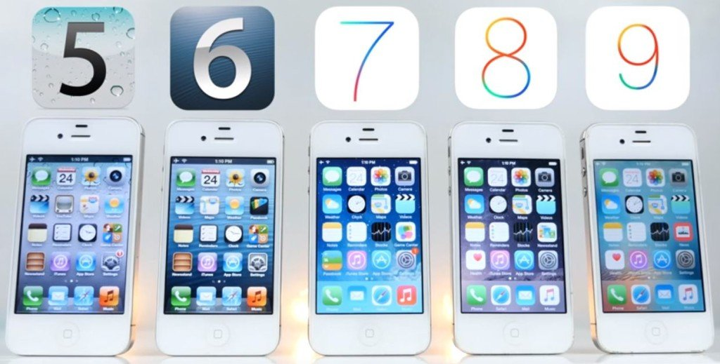 iOS 5 6 7 8 9 iPhone 4S 1024x519 - L'iPhone 4S est plus lent sous iOS 5, 6, 7, 8 ou iOS 9 ?