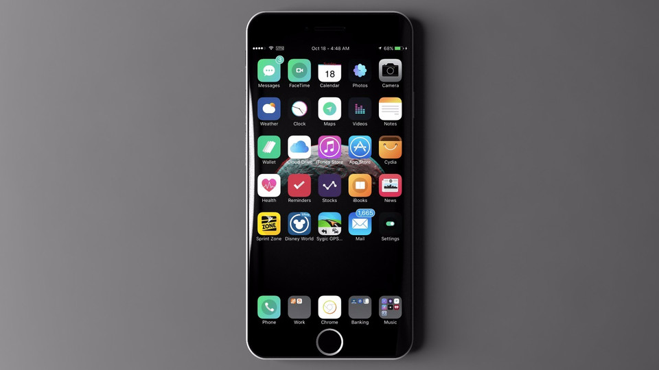 iPhone 7 Plus Concept incurve 7 - iPhone 7 Plus : un sublime concept avec écran incurvé