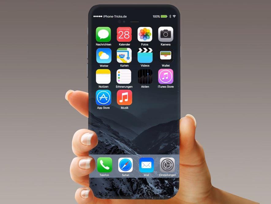 iPhone 7 concept Touch ID ecran iOS 10 - iPhone 7S / iPhone 8 (2017) : un écran bord à bord avec Touch ID intégré ?