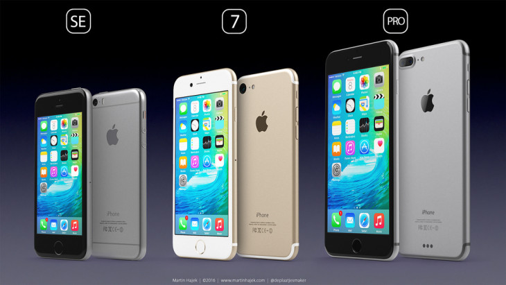 iPhone SE, iPhone 7, iPhone Pro : ultime concept par Martin Hajek