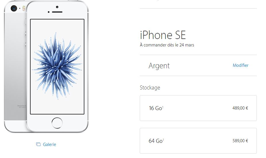 iPhone-SE-argent-prix