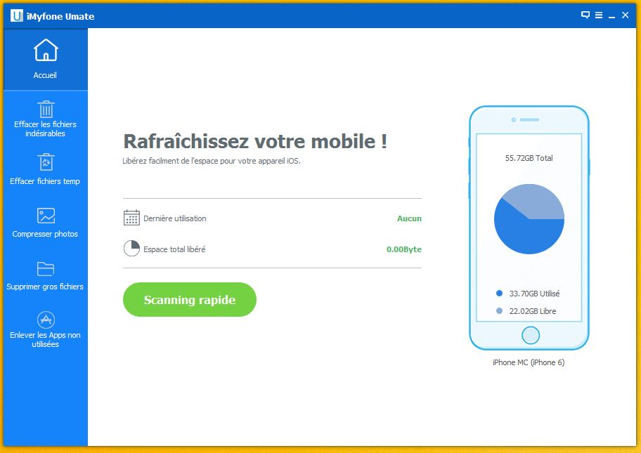 imyfone umate 2 - iMyfone Umate : gagner de la place sur iPhone, iPad & iPod Touch