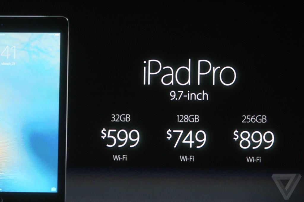 ipad pro 9 7 pouces prix keynote apple 1024x683 - Keynote : Apple dévoile un iPad Pro 9,7 pouces