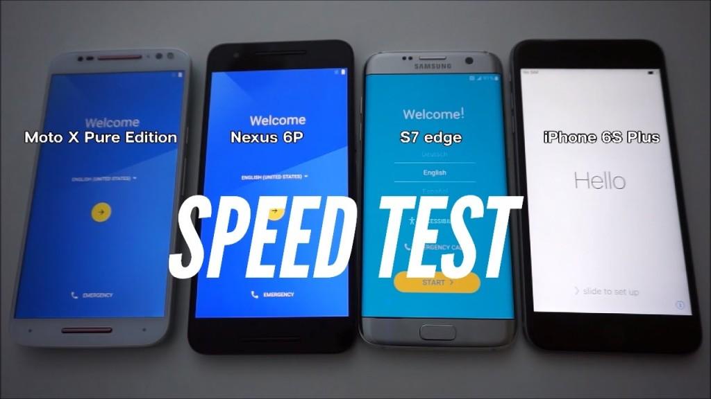 iphone 6S plus vs nexus 6p vs Galaxy s7 edge vs moto x pure edition 1024x576 - iPhone 6S Plus vs Galaxy S7 Edge : le smartphone d'Apple plus rapide