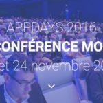 AppDays 2016 : le programme complet de la conférence mobile