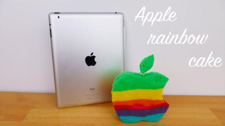 Insolite : cuisiner un cake aux couleurs du logo Apple arc-en-ciel