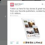 Le compte Apple News désormais actif sur Twitter
