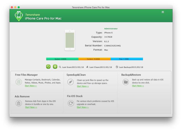 iPhone Care Pro : un logiciel pour optimiser, nettoyer & accélérer l'iPhone