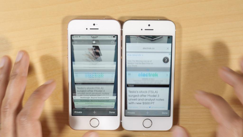iphone se vs iphone 5s ram 1024x576 - iPhone 5S vs iPhone SE : les 2 Go de RAM se font ressentir