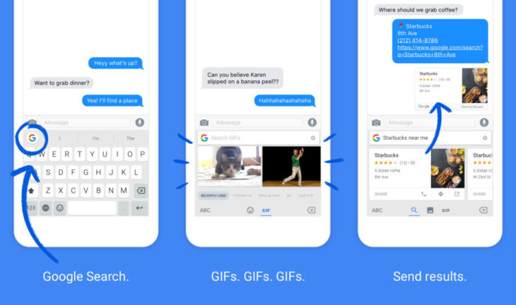 Gboard : le nouveau clavier virtuel iOS 9 de Google