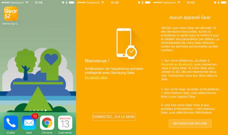 Gear S2 : l'app iOS pour la rendre compatible avec l'iPhone fuite