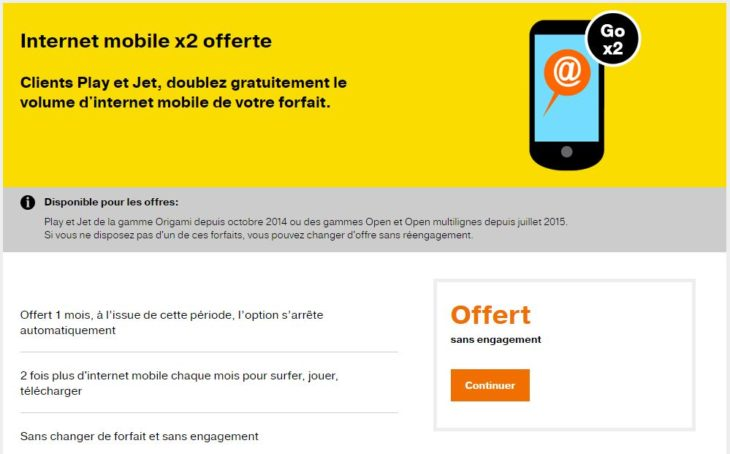 EURO 2016 : 2x plus de data chez Orange pendant 1 mois (gratuit)
