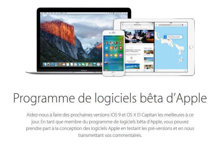 OS X 10.11.6 & iOS 9.3.3 disponibles en bêtas publiques