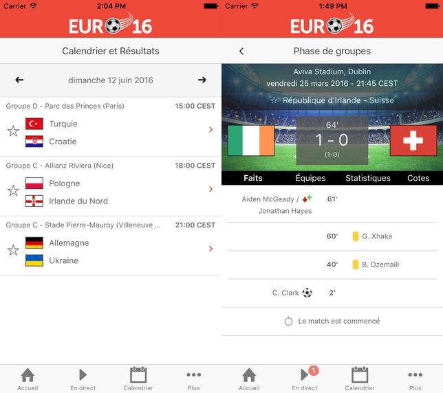 Euro 2016 Championnat Europe Football App iOS - Euro 2016 : Championnat d'Europe de football, l'app indispensable