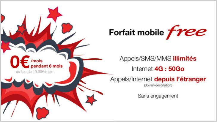 Free Mobile : le forfait 4G (50Go de data) gratuit pendant 6 mois !