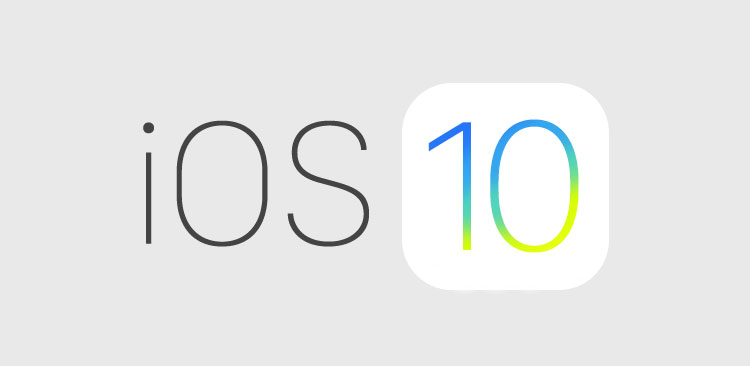 Logo iOS 10 - iOS 10 bêta 5 disponible sur iPhone, iPad & iPod Touch