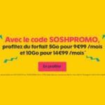 Sosh : -10€ sur 2 forfaits 4G avec le code promo SOSHPROMO
