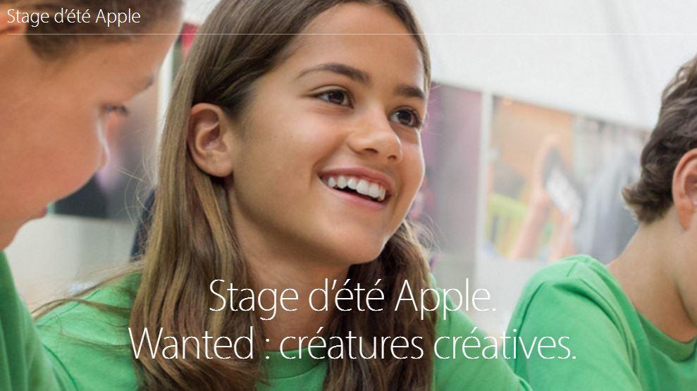 Stage ete 2016 Apple - Apple Store : Apple lance ses stages d'été pour enfants