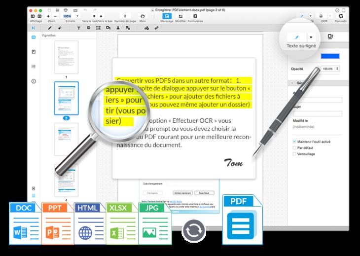 PDFelement : un éditeur de PDF très complet sur Mac