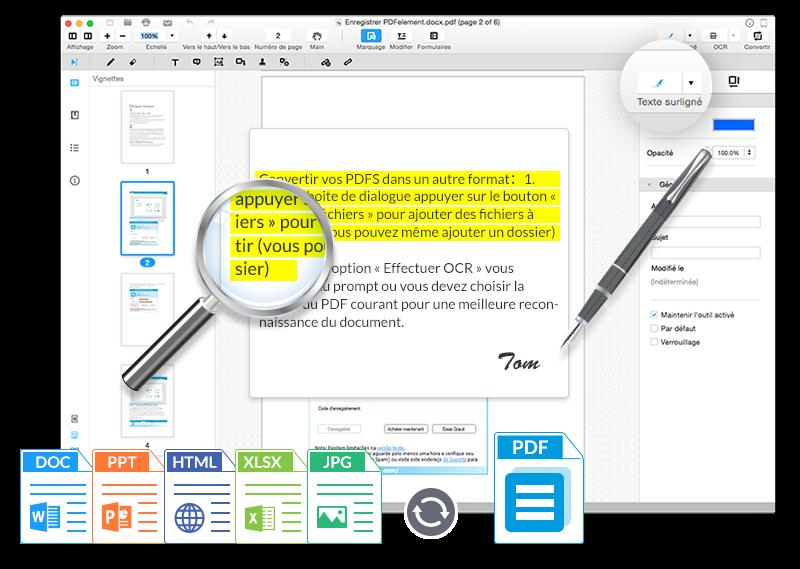 Wondershare PDFElement 1 - PDFelement : un éditeur de PDF très complet sur Mac